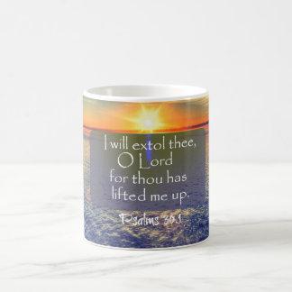 Mug Lever de soleil d'océan avec le vers de bible de