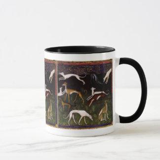 Mug Lévriers médiévaux dans les bois profonds