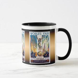 Mug L'Exposition universelle de Chicago 1933 - rétro