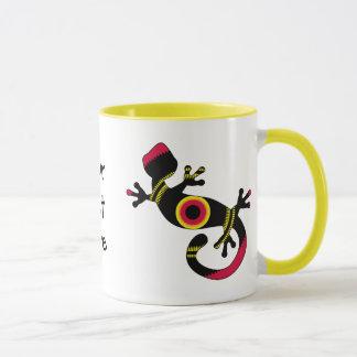 Mug Lézard coloré de Gecko d'amusement