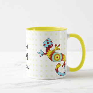 Mug Lézard coloré de Gecko d'amusement