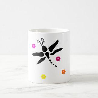 Mug libellule et fleurs