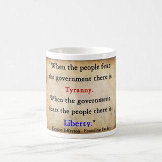 Mug Liberté au-dessus de tyrannie