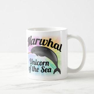 Mug Licorne de Narwhal de la mer, arc-en-ciel mignon