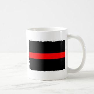 Mug Ligne rouge mince de sapeur-pompier
