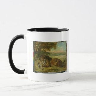 Mug Lion et alligator, 1863