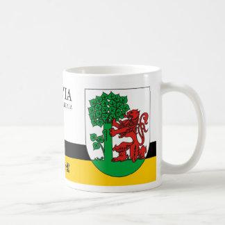 Mug Lion rouge et arbre vert de Liepaja Lettonie
