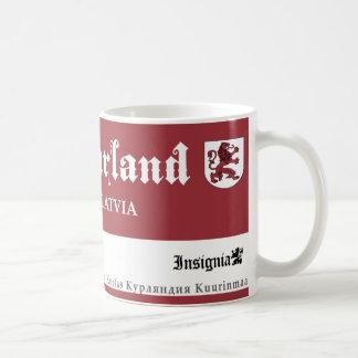 Mug Lion rouge médiéval de Courland Lettonie