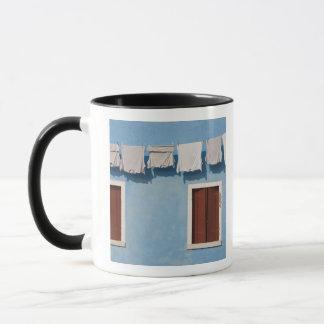 Mug L'Italie, Burano. Blanchisserie et fenêtres