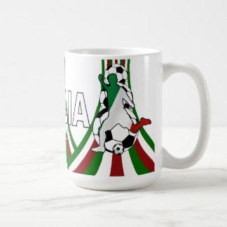 Mug L'Italie Italie, le football du football de
