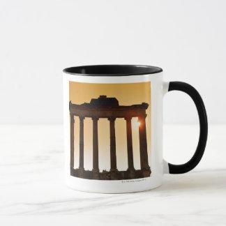 Mug L'Italie, Rome, forum romain, temple de Saturn