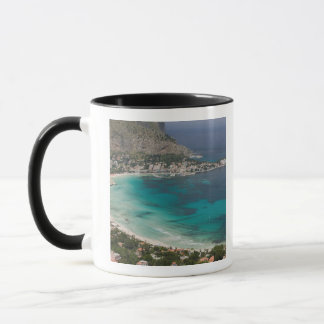 Mug L'Italie, Sicile, Mondello, vue de la plage de