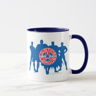Mug Logo de ligue de justice et arrière - plan solide