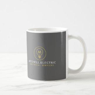 Mug LOGO de MONOGRAMME d'AMPOULE pour ELECTRICANS