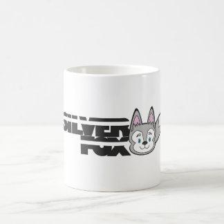 Mug Logo de renard argenté