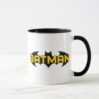 Mug Logo jaune du symbole | de Batman et noir nommé