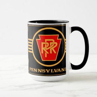 Mug Logo, noir et or de chemin de fer de la