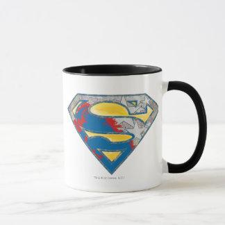 Mug Logo noir rouge jaune gris de mélange du