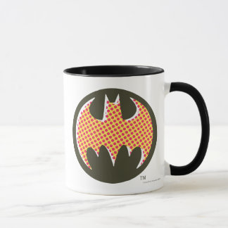 Mug Logo tramé rouge du symbole | de Batman