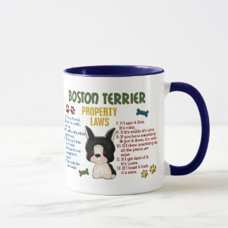Mug Lois 4 de propriété de Boston Terrier
