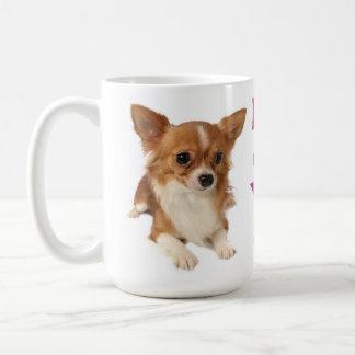 Mug Long amour de pourpre de chiot de chiwawa de