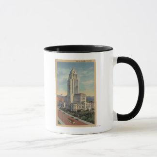 Mug Los Angeles, CAView de ville hôtel et funiculaire