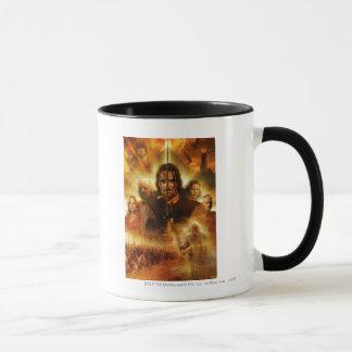 Mug LOTR : Affiche de film de ROTK Aragorn