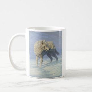 "Mug Loup blanc ""de regard fixe arctique"" -"