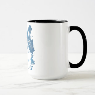 Mug Loup de bleu glacier d'illustration