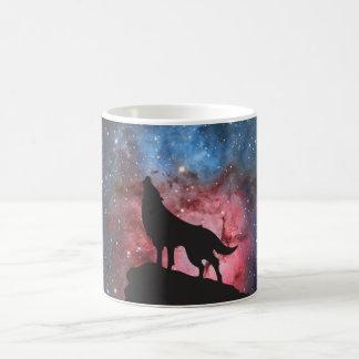 Mug Loup hurlant dans la galaxie