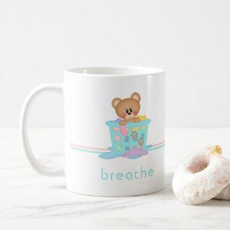 Mug L'ours de blanchisserie de guimauve respirent la