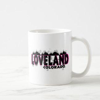 Mug Loveland grunge rose au néon le Colorado