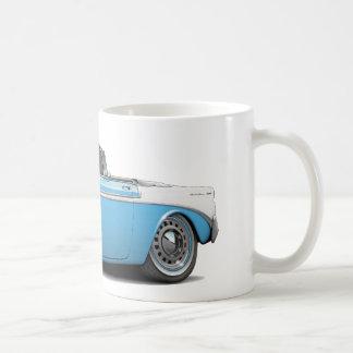 Mug Lt 1956 de Chevy Belair Bleu-Blanc Convertible
