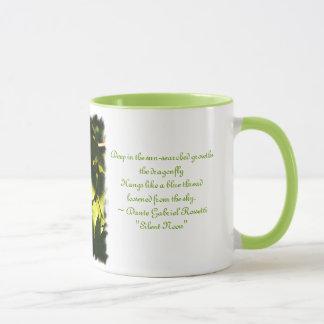 Mug Lumière de soirée avec la libellule/poème de