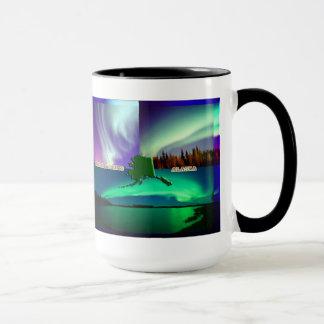 Mug Lumières du nord de collage de l'Alaska