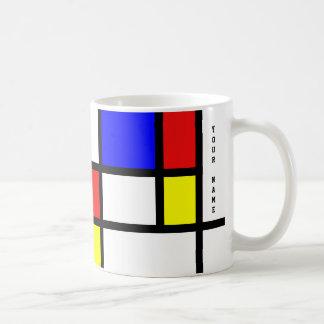 Mug Lumineux modernes de style d'art de Piet Mondrian