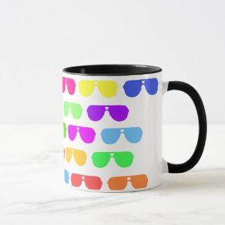 Mug Lunettes de soleil colorées lumineuses d'été