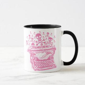 Mug Machine à écrire rose mauvaise
