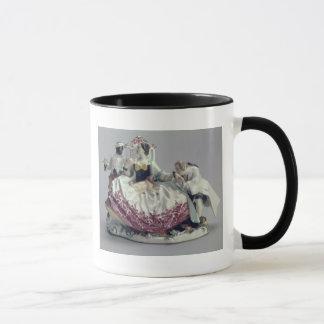 Mug Madame avec un petit chien d'appartement, un homme