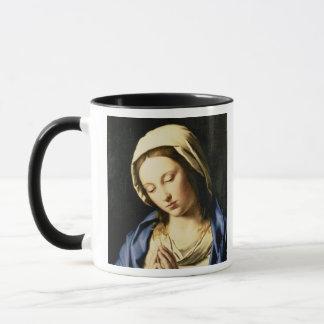 Mug Madonna à la prière (huile sur la toile)