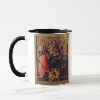 Mug Madonna et enfant avec les saints, c.1518 (huile