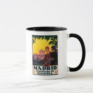 Mug Madrid en affiche promotionnelle de voyage de