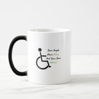 Mug Magic Appui d'amour de fauteuil roulant de cadeau de