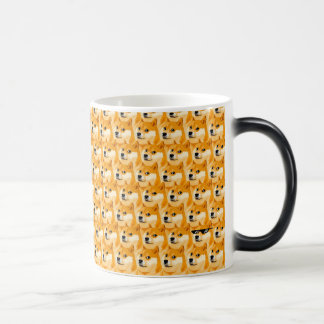 Mug Magic Bande dessinée de doge - texture de doge - shibe -