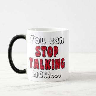 Mug Magic Cessez de parler la citation impertinente moyenne