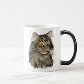 Mug Magic Chat de ragondin tigré noir du Maine