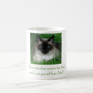Mug Magic Chat siamois avec l'attitude