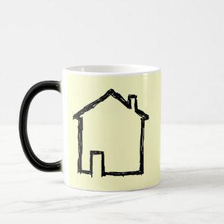 Mug Magic Croquis de Chambre. Noir et crème