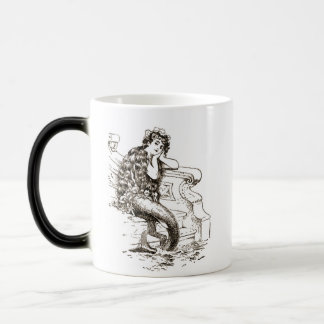 Mug Magic Dessin blanc noir vintage de sirène