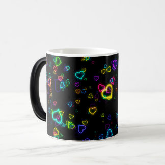 Mug Magic J'aime U - néon heureux